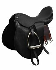 All-Purpose English Saddle Set! w/ Stainless Steel Irons, Leathers and Girth