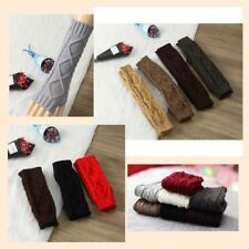 Unisex Mitten Winter 20/30CM Knitted Wrist Arm- Hand Warmer Fingerless Gloves