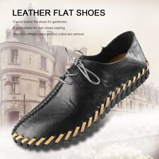 Spring Summer Autumn Men Fashion Casual Leather Flat Shoes Soft Lace-up Shoes A1