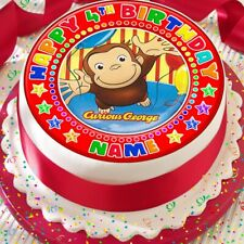 CURIOUS GEORGE PERSONALISED CAKE TOPPER PRECUT DECORATION EDIBLE BIRTHDAY