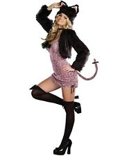 NWT SEXY PURRFECT ME PINK LEOPARD KITTY CAT Halloween Cosplay Costume