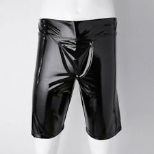 Men's Patent Leather Boxer Shorts Trunks Underwear Pouch Tight Pants Club wear