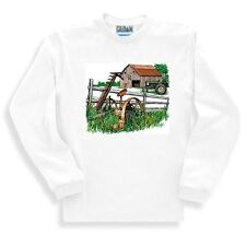 Country Decorative SWEATSHIRT Farm Farmer farming barn antique tractor rustic