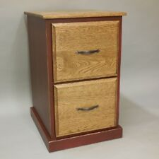 Shaker Style 2 Drawer Vertical File Cabinet Solid Oak
