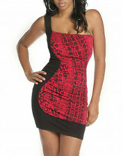 NWT ROCAWEAR Last Comic Red Snake BLK SEXY Dress  M,  L