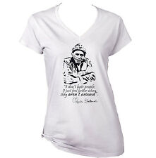 CHARLES BUKOWSKI DONT HATE - NEW WHITE COTTON LADY TSHIRT