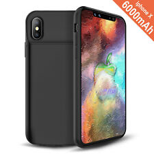 iPhone X Battery Case 6000mAh Power bank Charger Wireless External Battery Pack