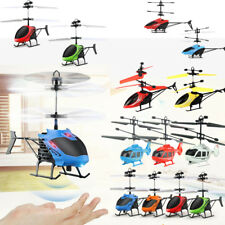 Flying Mini RC Infraed Induction Helicopter Aircraft Flashing Light Drone Toys