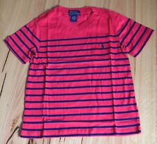 Ralph Lauren Polo Boys T Shirt - RED STRIPE -SIZES - 4 YEARS   - NEW