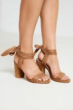 Brand Attic Block Heel Womens Sandals with Faux Suede and Ankle Strap