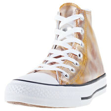 Converse Ctas Washed Metallic Hi Silver Womens Trainers Gold New Shoes