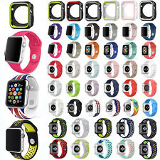 Replace Sport Silicone Wrist Strap Band For Apple Watch 38 42 Series 1 2 3