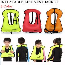 New Kids Life Jacket Snorkeling Gear Swimwear Inflatable Vest Water Sport LN