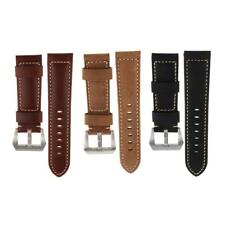 Women's Men's Two-Piece Leather Watch Band Replacement Watch Strap 22mm 24mm