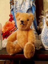 VINTAGE~ANTIQUE SMALL JOINTED GOLDEN MOHAIR TEDDY BEAR~MINIATURE  5 1/2