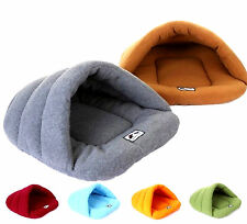 Warm Cozy Bamboo Fleece Padded Pet Dog Cat Sleeping Bed Bag Shelter House