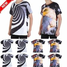NEW Men Women 3D print Short Sleeve Casual Fit T-Shirts Graphic Tee Shirt US TO