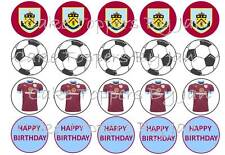 Football team cupcake toppers x 20 - ANY TEAM  edible wafer sheet / icing sheet