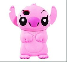 Pink 3D Cartoon Character Stitch With Ear Flip Hard Case Cover for iPhone 4/4s