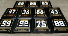 Pittsburgh Steelers Framed 8x10 Jersey Photo Bettis Swann Blount Ward Ham Miller