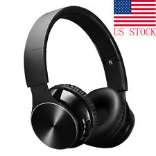 Bluetooth Wireless Headset Wired Mode Foldable Over Ear Headphones with Mic USA