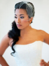 Wedding Bridal Birdcage Veils Net Charming Short Prom Face veil with Comb -0488