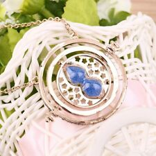 Cool Fashion Magic Time Turner Necklace Rotating Spins Hourglass Necklace YS