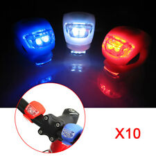 10Pcs LED Bicycle Bike Silicone Frog Light Front Rear Flash Safety Cycling Lamps