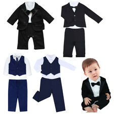 Baby Boys Clothes Outfits 0-7Y Gentleman Suits Kids Boy Party Wedding Tuxedo Set