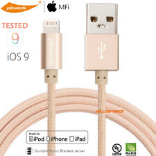 Premium Braided Apple MFi Certified Lightning to USB Cable Charging Data Sync