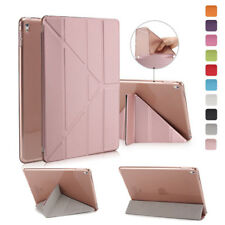 Origami Slim Leather Smart TPU Back Cover Stand For Apple iPad Pro 9.7 10.5 Air