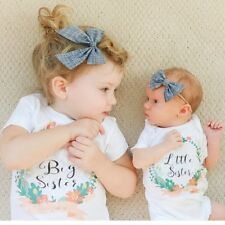Summer Baby Girls Short Sleeves Letters Flower Printing Round Collar T-shirt
