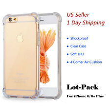 Wholesale Lot Hybrid Soft TPU Shockproof Clear Case For iPhone 6s/7/8 Plus 10/X