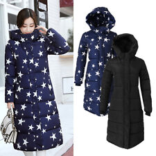 Womens Winter Hooded Coats Thicken Warm Down Parka Jacket Long Lady Outerwear