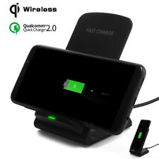 Qi Fast Wireless Charging Charger Stand Dock Holder Pad Mat For iPhone X 8 /Plus