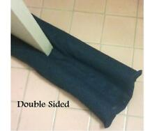 Denim Blue Fabric One/Double Dual sided Door draft stopper snake dodger UNFILLED