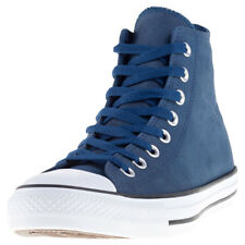 Converse Chuck Taylor All Star Hi Mens Blue Leather Casual Trainers Lace-up