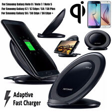 Qi Wireless Fast Charger Rapid Charging Stand Dock Pad For Samsung Note 8 S8 S7