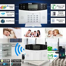LCD WIRELESS GSM AUTODIAL SMS HOME HOUSE OFFICE SECURITY BURGLAR INTRUDER ALARM#