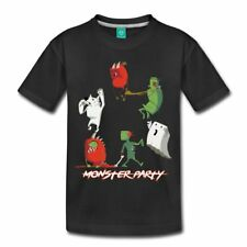 Monster Party Halloween Werewolf Zombie Ghost Toddler Premium T-Shirt by