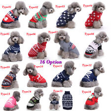New!Pet Warm Dog Cat Jacket Coat Puppy Clothes Winter Sweater Christmas Apparel
