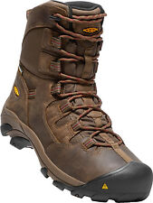 "New In Box KEEN Mens Detroit 8"" Waterproof Soft Toe Brown Boots 1017816"