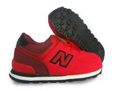 [KL574-YII] NEW BALANCE 574 RED BLACK TODDLER SNEAKERS Sz 6.5