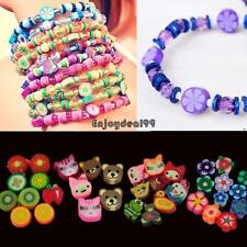 100 PCS Clay Beads DIY Slices Mixed Color Fimo Polymer Clay OO55 01