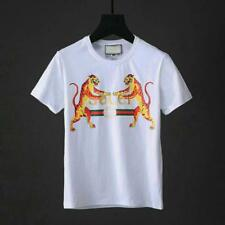 NEW Men's Golden Tiger Pattern Short Sleeve Fashionable Casual T-Shirts
