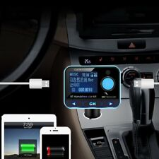 Digital Bluetooth Car Kit Handsfree FM Transmitter Dual USB Car Charger Nvg