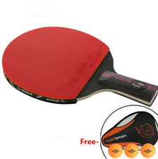 Carbon Hybrid Wood 9.8 Table tennis racket Ping Pong and Case New