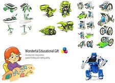 Solar Powered Robot Kits For Kids To Build Educational Smart Toy 14 in 1 GIFT !