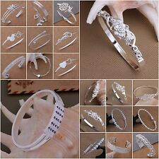 Wholesale Fashion XMAS Gift Women Jewelry Solid 925Silver Ladies Bangle/Bracelet