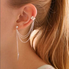 Leaf Earring Clip Chain Fashion Style Tassel Cuff Dangle Wrap Classic Jewelry